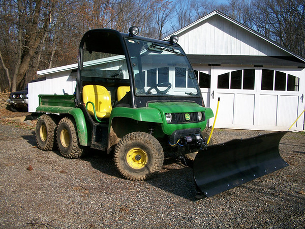 John Deere Gator Plow >> Plowing Snow With A Gator 6x4
